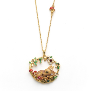 Fawn Woodland Necklace