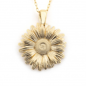 Large Daisy Pendant - Gold