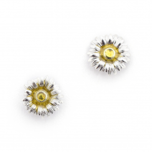 Daisy Mini Studs - Rhodium