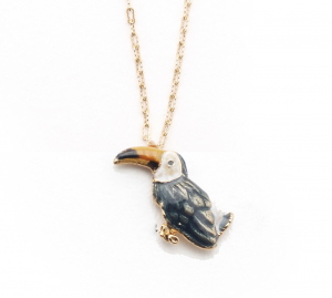 Tropical Toucan Pendant - Gold