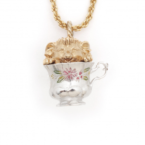 Tea Party Hedgehog Pendant - Large