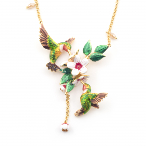 Hummingbird Cluster Necklace