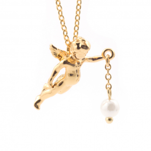 Flying Cherub Necklace