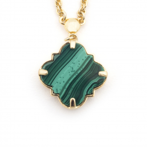 Filigree Morocco Pendant - Malachite