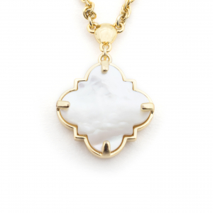 Filigree Morocco Pendant - Mother of Pearl