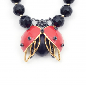 Bejewelled Ladybird Statement Necklace