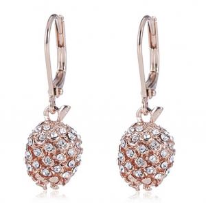 Pinecone Swing Earring Pave & Rose Gold