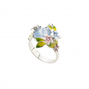 Scenes of Nature Ring - Powder Blue - Medium Only