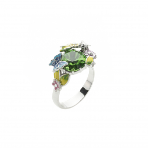 Scenes of Nature Ring - Emerald Green - Medium Only