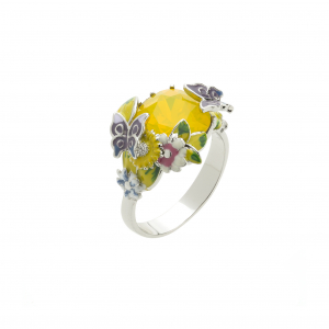 Scenes of Nature Ring - Canary Opal - Medium Only