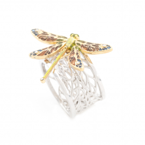 Dragonfly Statement Ring