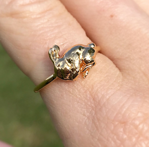 Archive Sleeping Bunny Ring - Gold
