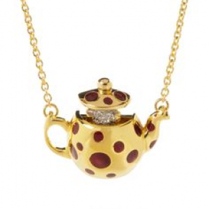 Mouse In Tea Pot Necklace