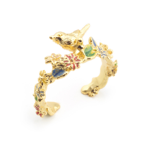 Potting Shed Bird Open Ring - Gold