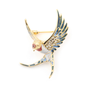 Swallow Brooch - Gold