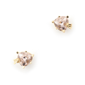 Disco Bee Gold Stud - Rose Crystal