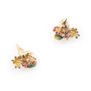 Potting Shed Floral Stud - Gold