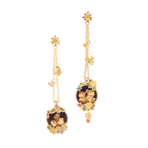 Potting Shed Statement Earrings- Gold