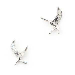Swallow Stud - Rhodium