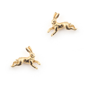 Hare Stud Earrings - Gold
