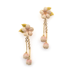 Cherry Blossom Statement Earring - Gold