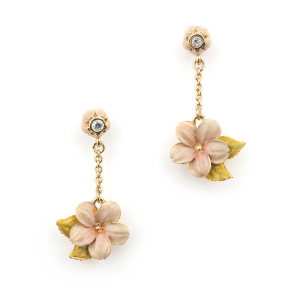 Cherry Blossom Drop Earring - Gold