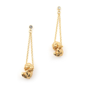 Puppy Spaniel Drop Earring - Gold