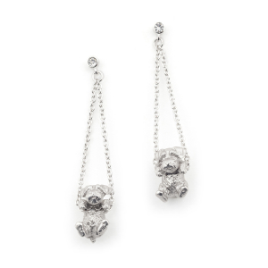 Puppy Wally Drop Earring - Rhodium