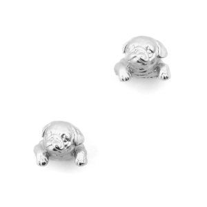 Puppy Pug Stud - Rhodium
