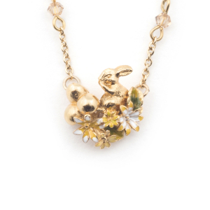Rabbit Sitting Necklace - Gold