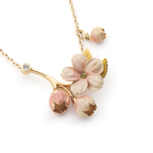 Cherry Blossom Bud Necklace - Gold