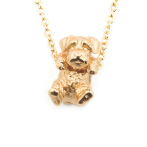 Puppy Wally Pendant - Gold