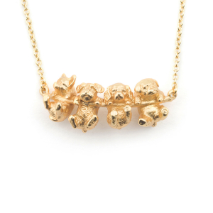 Puppy Dog Necklace - Gold
