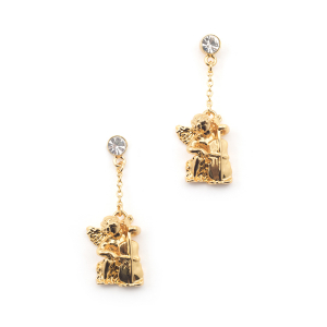 Cherub & Cello Drop Earring