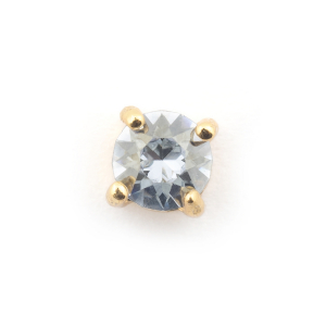 Single Crystal Stud  - Ice Blue