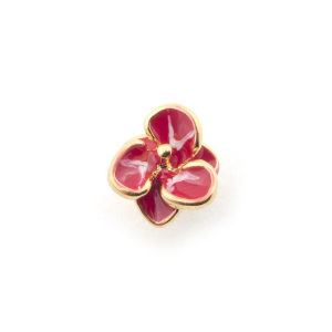 Single Flower Stud - Fuchsia