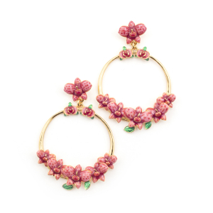 Orchid Statement Hoop Earring