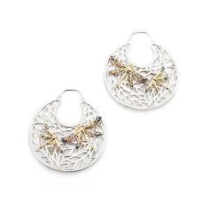 Dragonfly Filigree Hoops
