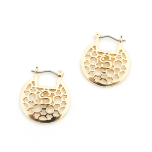 Filigree Mini Hoops - Gold