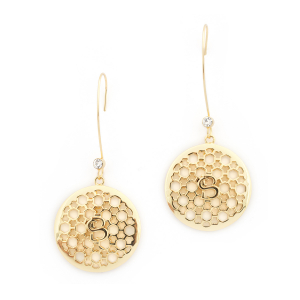 Filigree Disc Statement Earrings - Gold