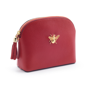 Queen Bee Leather Handbag - Red