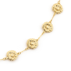 Daisy Chain Necklace - Gold
