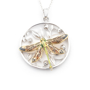 Dragonfly Circle Necklace