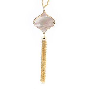 Filigree Tassel Pendant - Mother of Pearl