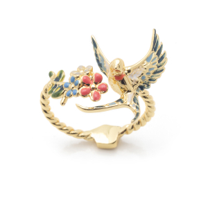 Swallow Open Ring - Gold