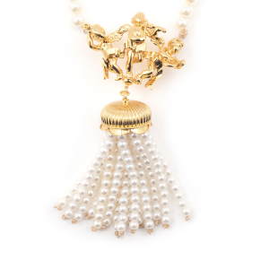 Statement Pearl Cherub Necklace
