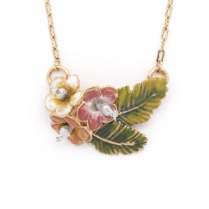 Tropical Triple Flower Pendant - Gold
