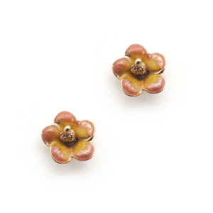 Tropical Peach Flower Studs