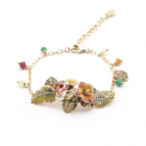 Tropical Hibiscus Bracelet - Gold