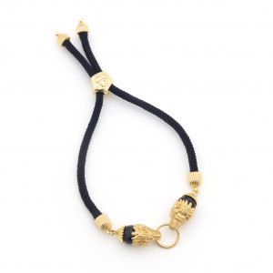 Lion Friendship Bracelet - Black